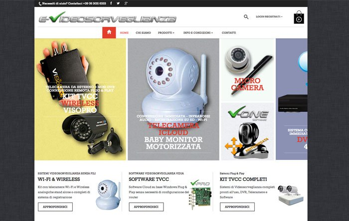 ecommerce wordpress Videosorveglianza home page
