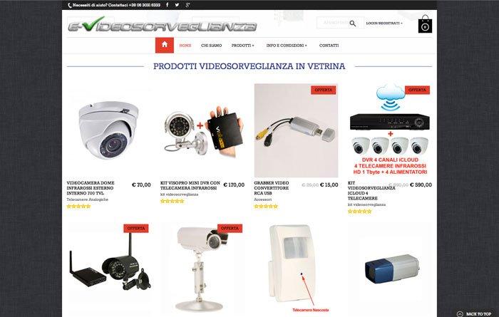 ecommerce wordpress Videosorveglianza vetrina