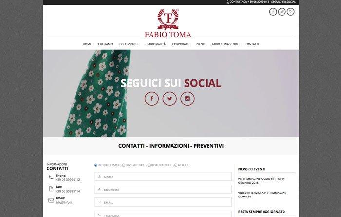 Fabiotoma.com - Pagina Contatti