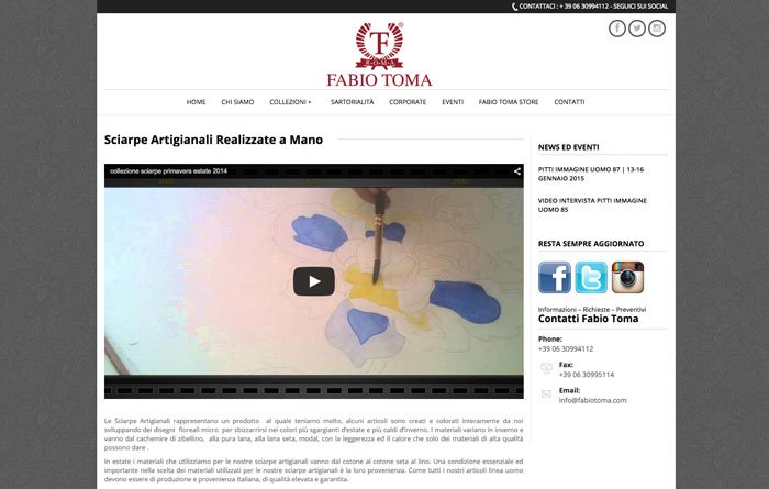 Fabiotoma.com - Pagina Sciarpe Sartoriali