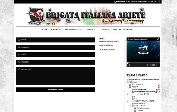 Sviluppo siti web Wordpress - Contatti Biaclan