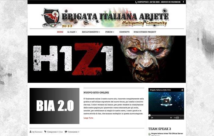 sviluppo siti web Wordpress - Home page Biaclan