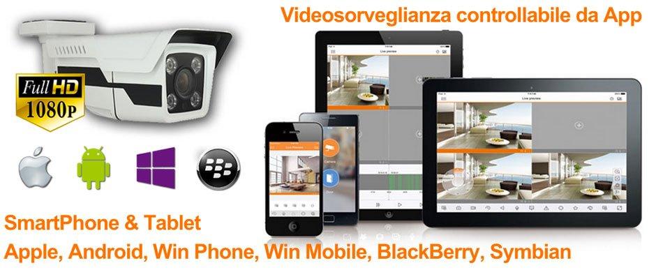 Videosorveglianza controllabile da SmartPhone e Tablet