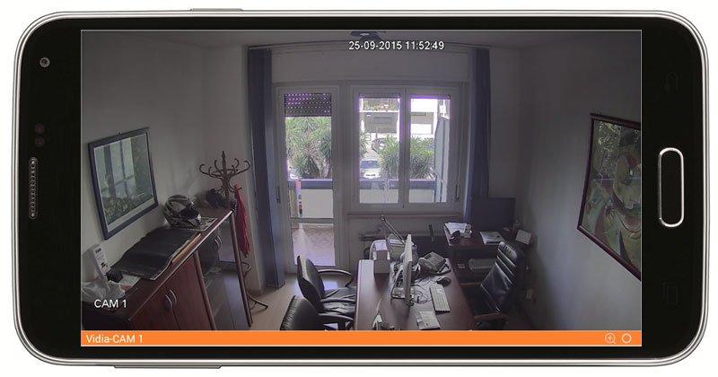 Visualizzazione Full HD con schermo ruotato da remoto tramite App Android e Apple