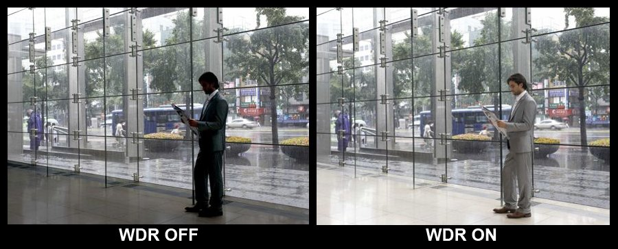 WDR Telecamere con persona in primo piano