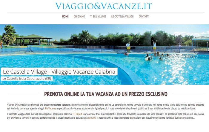 viaggioevacanze banner le castella village home page