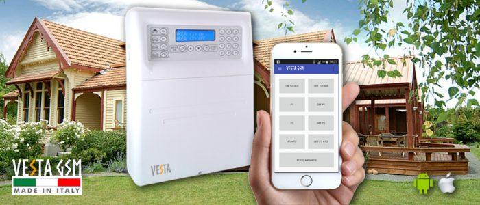 Antifurto Allarme Wireless Vesta GSM 100 zone radio 16 filo con APP